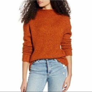 NWT BP Funnel Neck Bouclé Sweater XS Rust